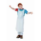 Bib Style Kids Disposable Aprons, White, Pack of 100