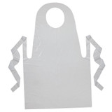 """Youth Disposable Aprons, White, 24"""" x 35"""", 100 Count"""