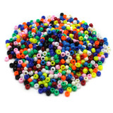 Pony Beads, Assorted Bright Hues, 6 mm x 9 mm, 1000 Pieces