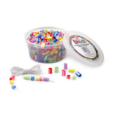 Bucket OÕ Beads, Striped Straw, Assorted Sizes, Pack of 100