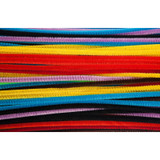"""Chenille 6"""" Stems, Assorted Colors, Pack of 100"""