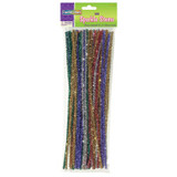 """Jumbo Sparkle Stems, Assorted Colors, 12"""" x 6 mm, 100 Pieces"""