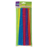 """Jumbo Stems, Hot Assorted Colors, 12"""" x 6 mm, 100 Pieces"""