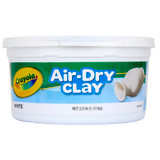 Air-Dry Clay, 2.5 Pounds Resealable Bucket, White