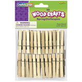 """Spring Clothespins, Natural, Extra-Large, 3.375"""", 50 Pieces"""