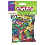 """Mini Spring Clothespins, Bright Hues Assorted, 1"""", 250 Pieces"""
