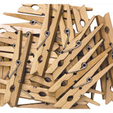 """Spring Clothespins, Natural, Large, 2.75"""", 24 Pieces"""