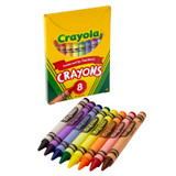Crayola¬ Large Size Crayons, 8 Crayons in a Tuck Box