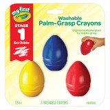 My First Crayola¬ Washable Palm-Grasp Crayons, Pack of 3