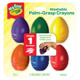 My First Crayola¬ Washable Palm Grasp Crayons, 6 Count