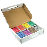 Crayons, Large, Master Pack, 8 Colors (25 Each), 200 Count