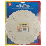 """Round Paper Lace Doilies, White, 8"""", Pack of 100"""