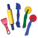 """Dough Tools, 5 Assorted Patterns, 5"""" to 8"""", 5 Pieces"""