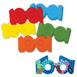 """100 Days of School Paper Glasses, 2.5"""" x 16"""", 25 Pieces"""