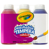 Artista II¬ Washable Tempera Paint, Primary Colors, 8 Ounce Bottles, 3 Count