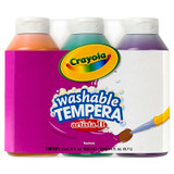 Artista II¬ Washable Tempera Paint, Secondary Colors, 8 Ounce Bottles, 3 Count
