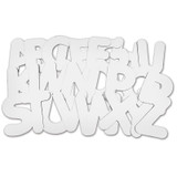 """Uppercase Collage Letters, 9"""" Tall, White, 26 Count"""