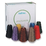4-Ply Double Weight Glitter Yarn Dispenser, Assorted Colors, 8 oz., 9 Cones