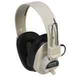 Deluxe Mono Headphone with Volume Control, Fixed Coiled Cord