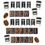 Industrial Cafe This Brew Is the Perfect Blend Bulletin Board Set