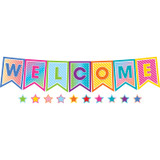 Colorful Vibes Pennants Welcome Bulletin Board Set