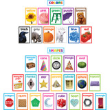 Colorful Photo Shapes & Colors Cards Bulletin Board