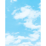 """Smart Poly» Clouds Chart, Dry-Erase Surface, 17"""" x 22"""""""