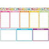 """Smart Poly¬ Chart Confetti Weekly Schedule, 13"""" x 19"""""""