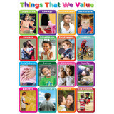 """Smart Poly¬ Chart Things We Value 13"""" x 19"""""""