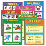 Seven Parts of Speech Learning Charts Combo Pack, Set of 7