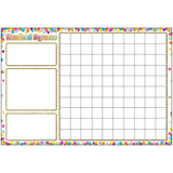 """Smart Poly» Chart, 13"""" x 19"""", Confetti Hundred Squares"""