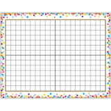 """Smart Poly» Confetti 14x20 Grid Chart, Dry-Erase Surface, 17"""" x 22"""""""