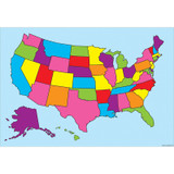 """Smart Poly» Charts 13"""" x 19"""", U.S. Map, Pack of 10"""