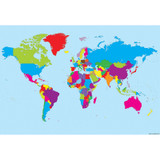 """Smart Poly» Charts, 13"""" x 19"""", World Map, Pack of 10"""
