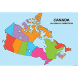 """Smart Poly» Charts, 13"""" x 19"""", Canada Map, Pack of 10"""