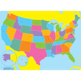 """Smart Poly¬ Single Sided PosterMat Pals¬ Space Savers, US Map, 13"""" x 9.5"""""""