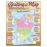 """Reading a Map Learning Chart, 17"""" x 22"""""""
