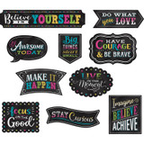 Chalkboard Brights Clingy Thingies¨ Positive Sayings Accents