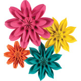 Beautiful Brights Paper Flowers, Pack of 4