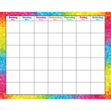 Colorful Brush Strokes Wipe-Off¨ Calendar, Monthly
