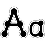 """Black Dot-to-Dot 4"""" Uppercase Letters, 98 Pieces"""