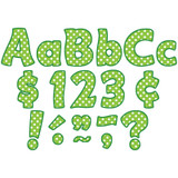 """Lime Polka Dots Funtastic Font 4"""" Letters Combo Pack, 208 pieces"""