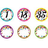 Confetti Numbers Magnetic Accents