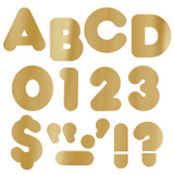"""Gold Metallic 2"""" Casual UC Ready Letters¨"""