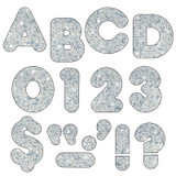 """Silver Sparkle 2"""" Casual UC Ready Letters¨"""