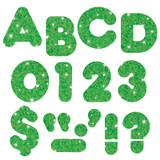 """Green Sparkle 2"""" Casual UC Ready Letters¨"""