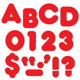 """Red 3"""" Casual Uppercase Ready Letters¨"""