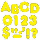 """Yellow 3"""" Casual Uppercase Ready Letters¨"""