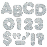 """Silver Sparkle 3"""" Casual UC Ready Letters¨"""