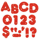 """Red Sparkle 3"""" Casual UC Ready Letters¨"""